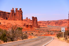 Along the Arches National Park. S Road, Utah Royalty Free Stock Photos
