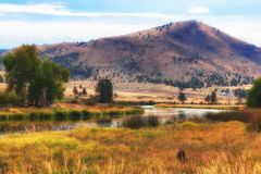 Along the banks of Lost River in Klamath County Royalty Free Stock Photography