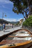 Along the beach of Levanto Royalty Free Stock Photo