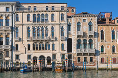 Along Canal Grande Royalty Free Stock Photography