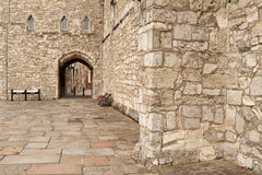 Along the City Walls Royalty Free Stock Photo