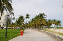 Along the coast of miami beach Royalty Free Stock Photo