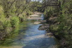 Along the Creek. A view of another creek near Killeen, Texas Stock Image