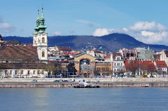 Along Danube River in Budapest Stock Photo