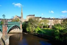 Glasgow cityscape Fotografering för Bildbyråer
