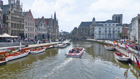 Along Ghent Channels Stock Photos