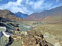 meeting point of the 3 highest mountain ranges Karakoram, Hindukush, and Himalayas royalty free stock images