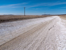 Along the loneliest road in America Royalty Free Stock Images
