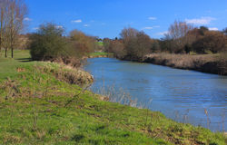 Along the Medway at East Farleigh Stock Photos