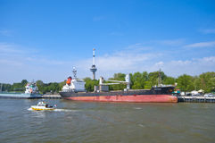 Along New Meuse River. Rotterdam Royalty Free Stock Photos