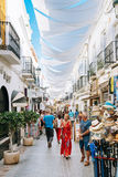 Along one of narrow streets in Nerja Royalty Free Stock Images