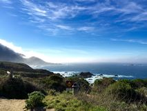 Along the Pacific coast highway, California Royalty Free Stock Images