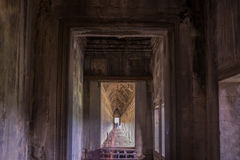 Along the passageway gallery angkor thom Royalty Free Stock Photos