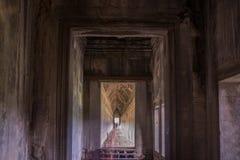 Along the passageway gallery angkor thom Royalty Free Stock Photos