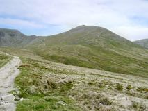 Along path leading to Swirral Edge, Lake District Stock Photos