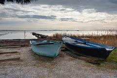 Along the pond of Thau - Marseillan France. Along the pond of Thau - Marseillan - Herault France stock photography