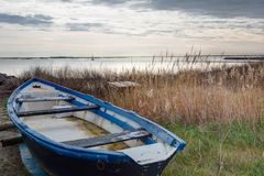 Along the pond of Thau - Marseillan France. Along the pond of Thau - Marseillan - Herault France royalty free stock photography