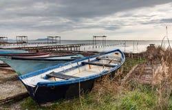 Along the pond of Thau - Marseillan France. Along the pond of Thau - Marseillan - Herault France royalty free stock photo
