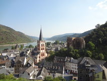 Along the Rhein, Bacharach village Royalty Free Stock Images