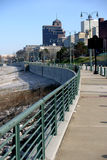 Along The River. View of Memphis from the sidewalk Royalty Free Stock Photo