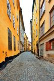 Along the streets of The Old Town in Stockholm Stock Photography