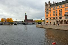 Along the streets of The Old Town in Stockholm Royalty Free Stock Photography