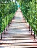 Along to The Rope bridge. In Bangpu Thailand Royalty Free Stock Image