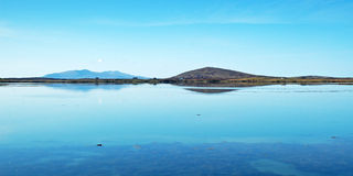 Along a track_012. Uist, lovely reflexion, a calm scene along my way Royalty Free Stock Photos
