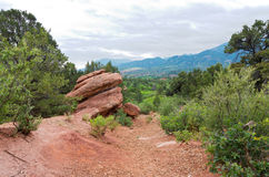 Along the Trail at Garden of the Gods Stock Photos