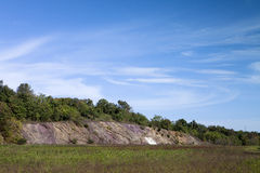 Along the Trail. The scenic rock formation along the trail in Blue Marsh Lake Stock Photography