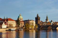 Along the Vltava river. Scenery along the Vltava river in Prague Stock Photos