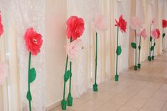Paper flowers Royalty Free Stock Photos