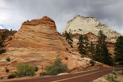 Along Zion-Mount Carmel Highway stock image