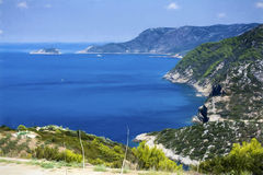 Alonissos Bay - Painting effect Royalty Free Stock Photography