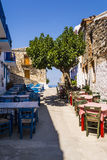 Alonissos Greek Island Street. In the morning Royalty Free Stock Photo