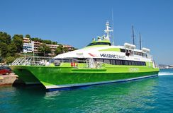 Alonissos island ferry, Greece Royalty Free Stock Images
