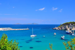Alonissos island marina, Greece Royalty Free Stock Photography