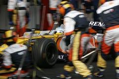 alonso 2008 f1 fernando renault Стоковое Изображение RF