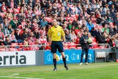 Alonso Fernandez, soccer referee Royalty Free Stock Images
