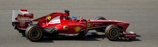 Alonso Ferrari. Fernando Alonso during practice in Spa, Belgium 2013 Stock Images