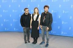 Alonso Ruizpalacios, Ilse Salas en Leonardo Ortizgris stock foto's