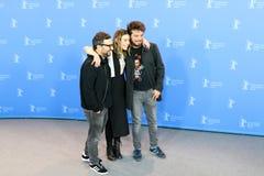 Alonso Ruizpalacios, Ilse Salas en Leonardo Ortizgris royalty-vrije stock afbeeldingen