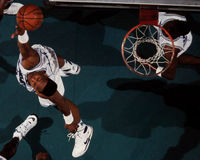 Alonzo Mourning Charlotte Hornets Immagine Stock