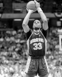 Alonzo Mourning. Georgetown Hoyas center Alonzo Mourning, #33. (Image taken from B&W negative Stock Images
