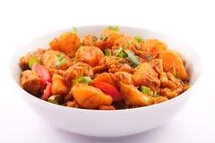 Aloo asciutto cucina indiana e nepalese di Gobi Fotografie Stock