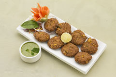 Aloo corn Tikki-Potato corn fried cutlets. From India Royalty Free Stock Photo