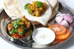 Aloo del curry della patata Fotografia Stock Libera da Diritti