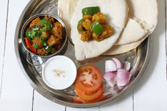 Aloo del curry della patata Immagini Stock