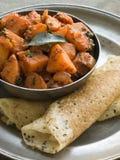 Aloo Masala with Dosa. Dish of Aloo Masala with Dosa Royalty Free Stock Images