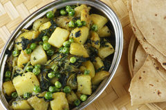 Aloo matar � Potato and green Peas dish Royalty Free Stock Photo